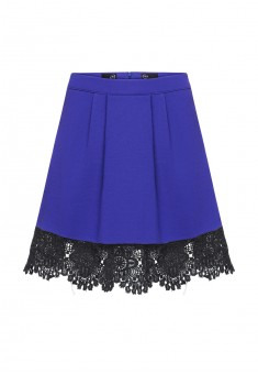 Girls jersey skirt bright blue