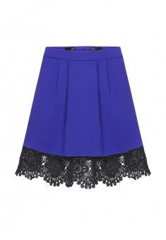 Трикотажная юбка для девочки цвет яркосиний