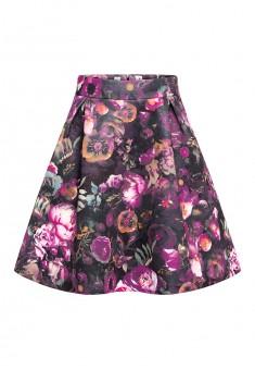 Spódnica z kwiatowym motywem dla dziewczynki multicolor
