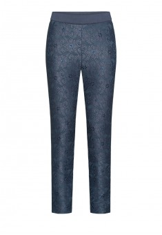 Skinny lace jersey trousers grey violet