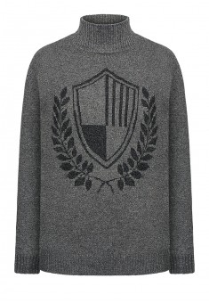 Mens knit jumper dark grey melange