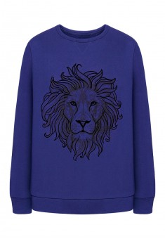 Mens printed jersey sweatshirt dark blue