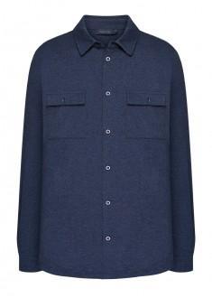 Трикотажная рубашка для мужчины цвет темносиний
