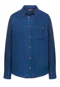 Mens flannel checked shirt blue green