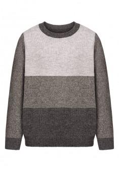 Boys knit jumper graphite