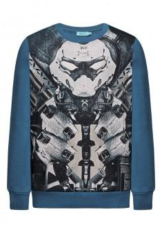 Boys jersey sweatshirt dark tourqouise