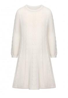 Вязаное платье для девочки цвет молочный