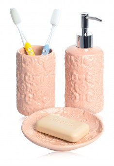 Bathroom Accessory Set peach