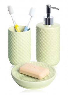 Bathroom Accessory Set green