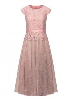 Удлиненное платье цвет розовый