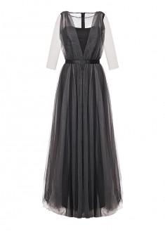 Длинное платье цвет черный