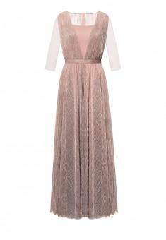 Длинное платье цвет розовый