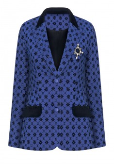 Jacket bright blue