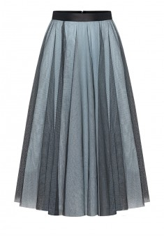 Layered skirt grey blue