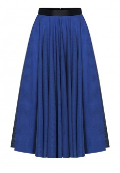 Layered skirt bright blue