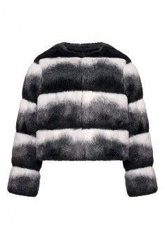Girls ecofur coat blackandwhite