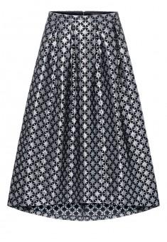 Удлиненная юбка цвет серебристый