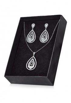 Crystal Pendant and Earrings