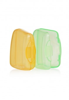 Toothbrush Head Cover yellow green