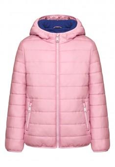 Утепленная куртка для девочки цвет розовый