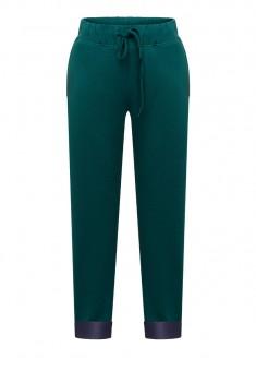 Трикотажные брюки для мальчика цвет темноизумрудный