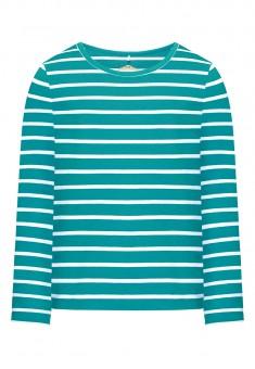 Трикотажная футболка для девочки цвет бирюзовый