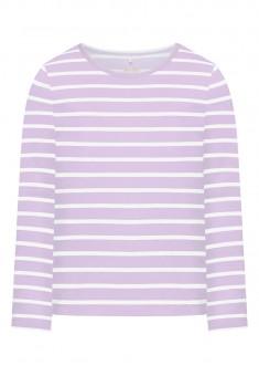 Трикотажная футболка для девочки цвет сиреневый
