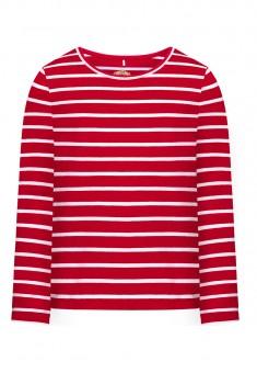Трикотажная футболка для девочки цвет красный