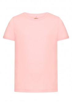 Трикотажная футболка для девочки цвет розовый