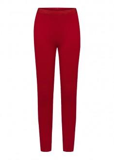 Обтягивающие трикотажные брюки для девочки цвет темнокрасный
