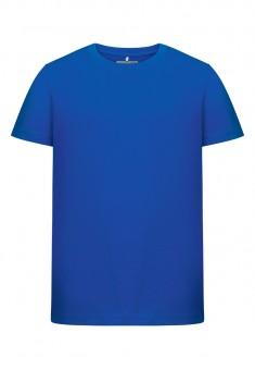 Трикотажная футболка для мальчика цвет яркоголубой