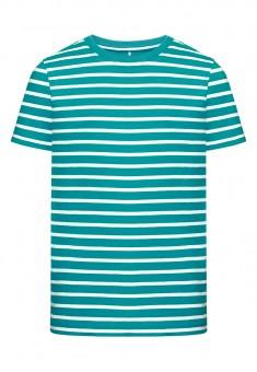 Трикотажная футболка для мальчика цвет бирюзовый