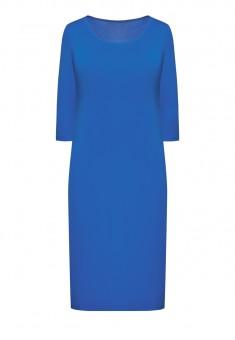 Трикотажное платье с укороченным рукавом для женщины цвет яркоголубой