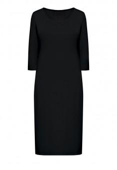 Трикотажное платье с укороченным рукавом для женщины цвет черный