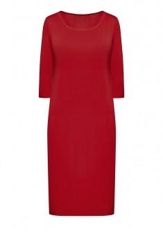 Трикотажное платье с укороченным рукавом для женщины цвет темнокрасный