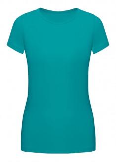 Трикотажная футболка цвет бирюзовый