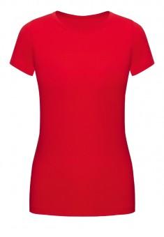 Трикотажная футболка цвет красный