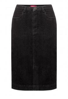 Denim skirt black