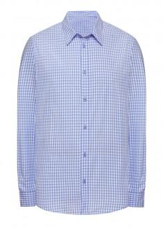 Рубашка с длинным рукавом для мужчины цвет светлоголубой