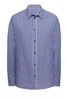 Рубашка с длинным рукавом для мужчины цвет голубой