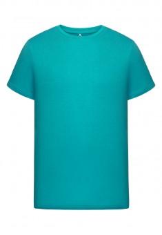 Трикотажная футболка для мужчины цвет бирюзовый