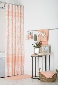 Шторка для ванной персиковая