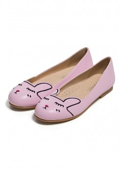 Girls Bunny Flats pink