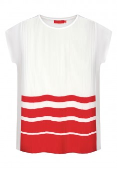 Pleated Jersey Blouse coral