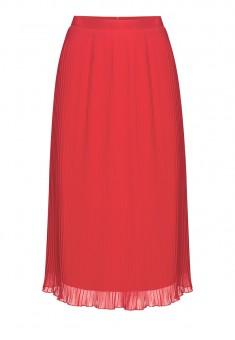 Плиссированная юбка цвет коралловый