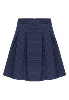 Трикотажная юбка для девочки цвет темносиний