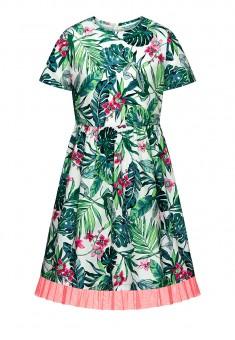 Платье с коротким рукавом для девочки цвет мультицвет