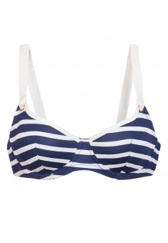 Underwired Bra soft cups marine print