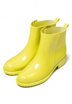 Raina Short Wellington Boots lemon