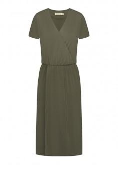 Платье с запахом цвет хаки